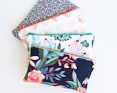 Travel Her, Organizer Bag, Zipper Pouch, Passport Pouch, Jewelry Travel Bag, Travel Gift Floral, Cactus, Aqua, Coral, Navy, Grey
