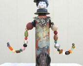 OOAK Found Object Steampunk Assemblage Art Doll 3D Sculpture