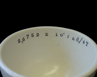 Proton Gyromagnetic Ratio Porcelain Cappuccino or Soup Mug