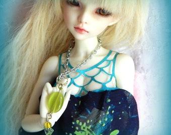 BJD Necklace, MSD Necklace, Blythe Necklace, MNF Necklace, Cats Eye Necklace, Green Necklace for Doll