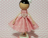 SweetHeart Susannah Miniature Wooden Clothespin Doll