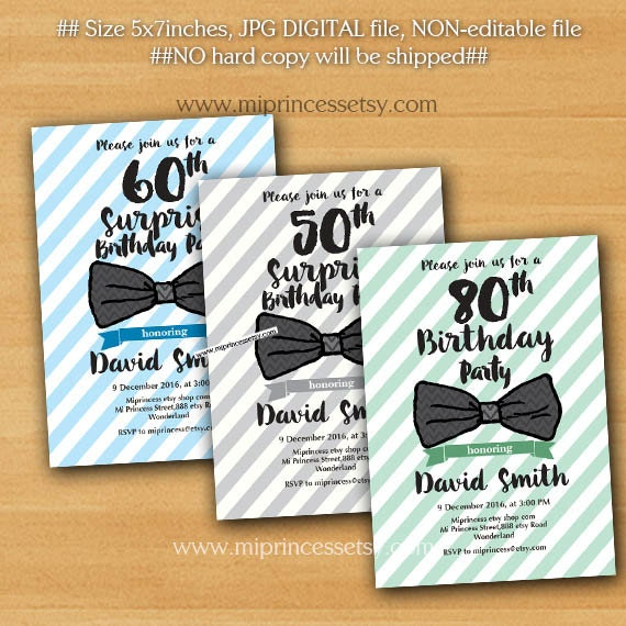 birthday invitation bow tie invitation design by
