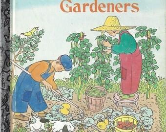 Two Little Gardeners Vintage Little Golden Book, C1951