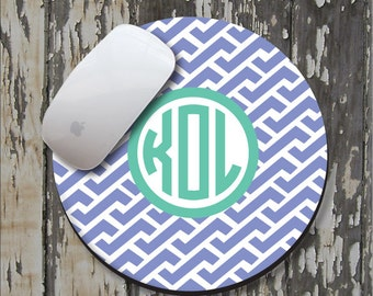 ZIG ZAG REVERSE Personalized Mouse Pad, Personalized Mousepad, Monogram Mouse Pad, Monogrammed Mousepad, Custom Mouse Pad, Custom Mousepad
