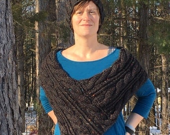 Winter hat and shawl