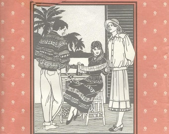 Folkwear 127 Seminole Indian Jacket and Skirt Sewing Pattern  Misses Size 6 to 16 Men 34 to 44.