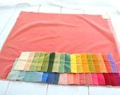 1970s Cotton Velveteen Fabric Samples