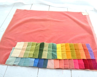 1970s Cotton Velveteen Fabric Samples