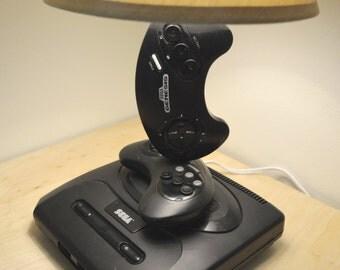 Sega Genesis Desk Lamp Light Sculpture with Lampshade