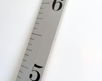 Growth Chart Ruler in Warm Grey