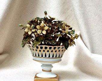 """Vintage Jane Hutcheson  French   """"Fleurs Des Siecles"""" 18th Century French Style  Porcelain Flower Arrangement-Objet de Vertu"""