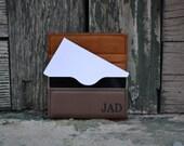 Personalized Leather Business Card Holder - Desk - Secretary - Office - Professional - Custom - Graduation Gift - Laser Engraved