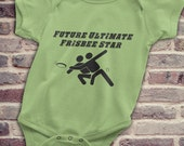 Ultimate Frisbee Baby, Ultimate Frisbee Baby Onesie, Future Ultimate Frisbee Star Diaper Shirt, Gifts for Ultimate Frisbee Players