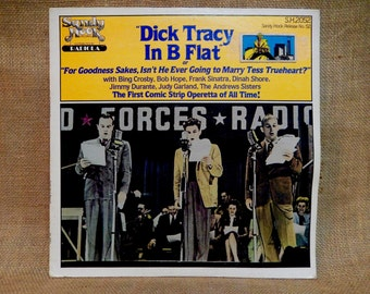 "DICK TRACY In B Flay or ""For Goodness Sakes, Isn't He Ever Going to Marry Tess Trueheart?"" - 1981 Vintage Vinyl Record Album"
