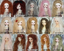 Custom Tibetan Mohair Wig for BJD SD Msd Yosd Dolls Regular / Extra Length 40 colors Size from 14cm to 24cm Blythe and Pullip Available