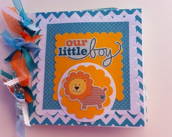 Baby boy scrapbook album premade moms brag book grandmas brag book gift for baby boy
