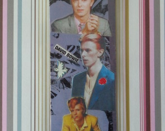 David Bowie Collage Bookmark by Pepperland