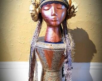 Metallic Gold Flower Headdress