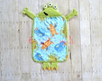 Higgles the Monster Lovey Blanket