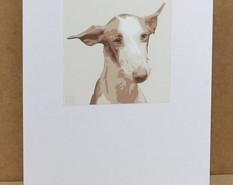 Ibizian Hound Greeting Card Art Print