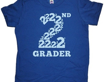 Second Grade Tshirt - 2nd Grader Shirt - Boys or Girls Back to School First Day of School Tshirt Top Tee - School Clothes - 2nd Grader