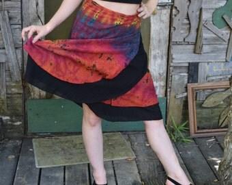 tie dye skirt, yoga skirt, festival skirt, comfy skirt, hippie skirt, flow clothing,dance skrit, festival wear,nia skirt, sexy skirt