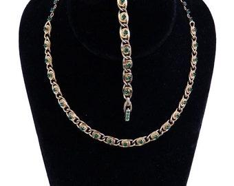 1950s Vintage Rhinestone Necklace And Bracelet Set By Kramer of New York