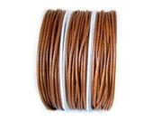 Waxed Cord : 20 feet Saddle Brown 1.5mm Korean Waxed Cord String / Faux Leather Bracelet Cord / Macrame Cord / Shamballa Cord 75527