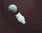 snowy owl necklace.