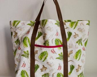 Kimchi Pattern Market Tote Bag