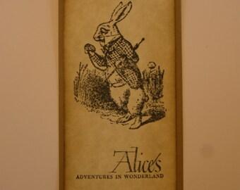 Alice in Wonderland Vintage Style Bookmark - White Rabbit