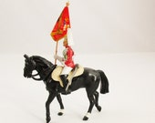 A 'Britains Metal Models' From a Set of Eight - Original Box - Hand Painted Metal Diecast Rider on Horse - Made in England