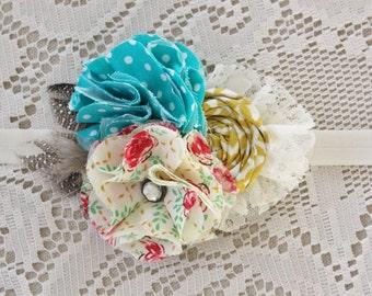 Baby Flower Headband - Vintage Style Headband