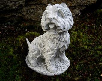 Amazing Westie Statue, West Highland Terrier, Cement Garden Dog Memorial, Concrete  Westie Dog Statues