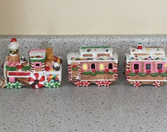 Train Choo Choo Train Christmas Trains Christmas Decor Christmas Village