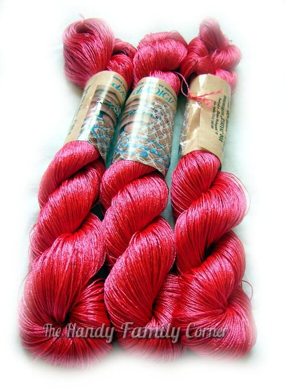 Knitting Rose Yarns : Viscose silk yarn color rose knitting and crochet lace