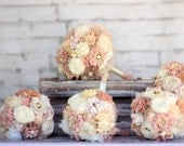 wedding bouquet ,Bridal bouquet, bridesmaid bouquets ,flower girl bouquet , rustic bouqets