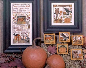 10% OFF Pre-order Autumn Leaves Book No. 132 cross stitch patterns by Prairie Schooler at cottageneedle.com Autumn