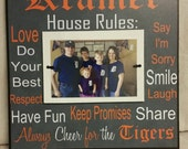 Family House Rules Frame, Always Cheer For the Tigers, Custom Mom, Dad, Grandma, Grandpa, Parents Gift, Sports, Tigers, Baseball, Sports Fan