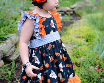 Halloween Boo Drees size 12mos-8
