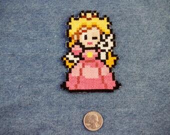 Princess Peach Iron On Patch