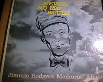 Jimmie Rodgers LPM-1232 dg Memorial Album Never No Mo' folk Blues Orig LP vinyl Record Vintage  '56