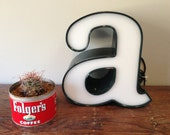 Reclaimed Metal letter - a - dark green - excellent condition