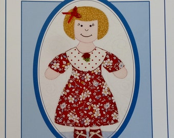 Kay Mackenzie DOLLS & DRESSES - Quilt Pattern Template Quilting Booklet