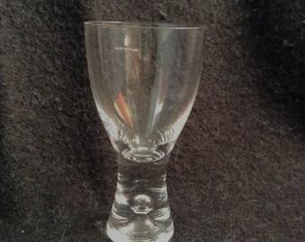 Iittala single Tapio Wirkkala bubble glass goblet.  Made in Finland.  Danish Modern.  Mid century modern, Eames era.