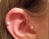 Tiny Heart Tragus Stud Tragus Jewelry Cartliage Earring Helix Piercing