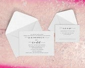 Wedding Invitations - Surfer Wedding - Beach Wedding Invitations - Calligraphy - Custom Wedding Invitations - The Coronado Suite - DEPOSIT