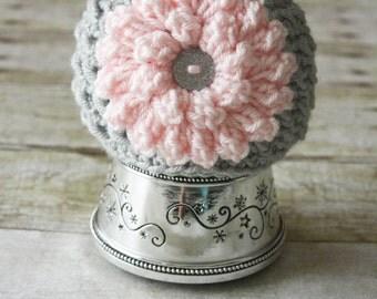 Crochet Flower Hat, Baby Flower Hat, Soft Baby Hat, Newborn Flower Hat, Crochet Newborn Hat, Crochet Baby Hat, Baby Girl Hat