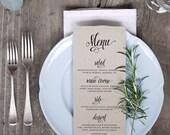 Wedding Menu Printable 3
