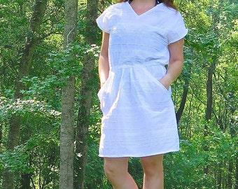 Women's Seaside Dress pdf sewing pattern, sewing pattern for women, womens dress, womens sewing pattern, dress, pdf sewing pattern